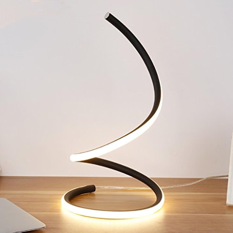 KYBYMX,Nordic Schreibtischlampe Kreative Moderne LED Tischlampe Art Deco Einfache Tischlampe Schlafzimmer Nachttischlampe Schlafzimmer Wohnzimmer Studie Innentischlampe (Farbe   Warmes Licht)