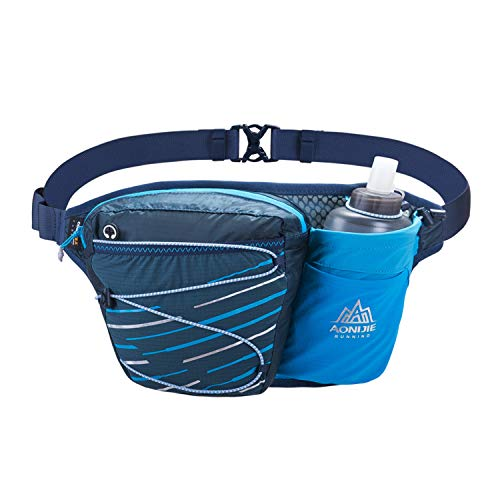 NIID Gürteltasche multifunktionale Bauchtasche Wasser Widerstand Atmungsaktiv Hüfttasche mit Flaschenhalter für Laufen, Wandern, Radfahren, Klettern, Camping Reisen.(Enthalten 420ML Wasserflasche)