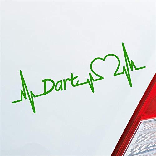 Hellweg Druckerei Dart Herzschlag Dartscheibe Pfeil Wettkampf Sport Liebe Auto Aufkleber Sticker Heckscheibenaufkleber