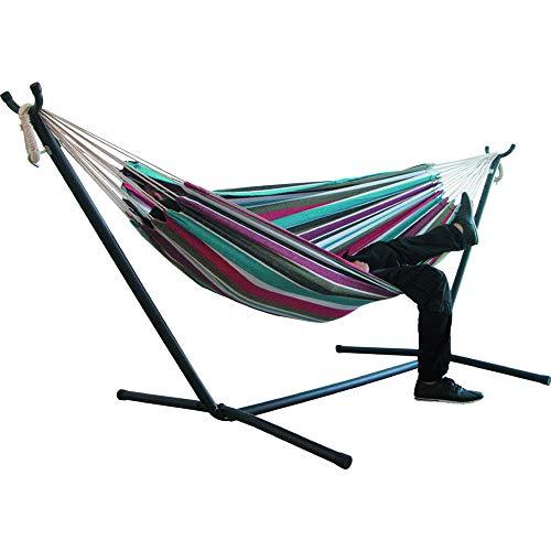 XRX Hamaca de Dos Personas Que acampa Silla de Swinging al Aire Libre Colgando Lienzo Mecedora Silla no con Stand 200 * 150 cm-C