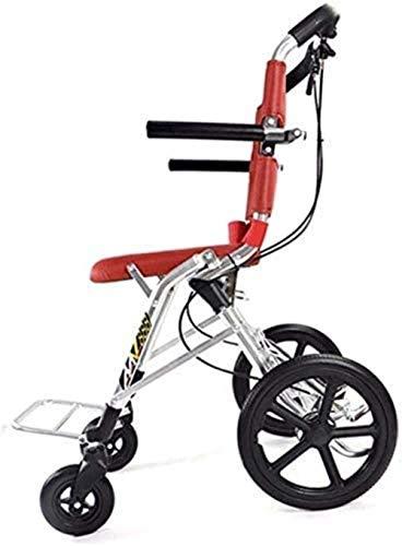 Silla de ruedas autopropulsada portátil de aluminio-ultralige, ancho de asiento 34,5 cm, tamaño desplegado 73 * 52.3 * 94.8cm, adecuado for personas mayores menores de 85 kg y discapacitados convenien