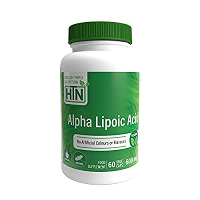 Alpha Lipoic Acid 600mg 60 Vegecaps - Vegan, Non-GMO, Gluten Free, Hypoallergenic and Free from Common excipients Such as Magnesium Stearate and Silica, by Health Thru Nutrition.