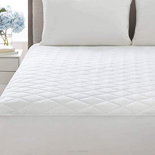 Sapphire Collection Poly-Cotton Quilted Mattress Protector Microfiber Fitted 30cm Deep Skirt Soft Touch for Extra Comfort Non Noisy Hotel Quality Anti-Allergy & Breathable (Bunk Bed (76 × 190 cm))