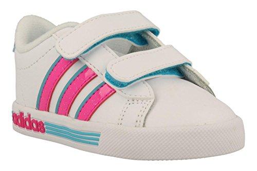 adidas Daily Team Inf, Baskets Mixte bébé, Multicolore-Blanc/Rose/Bleu (Ftwbla/Rosimp/Azuene), 25.5 EU