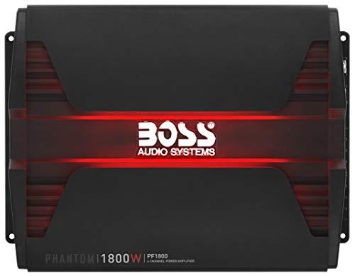 BOSS Audio PF1800 4 Channel Car Amplifier - 1800 Watts, Full Range, Class A-B, 2-4 Ohm Stable,...