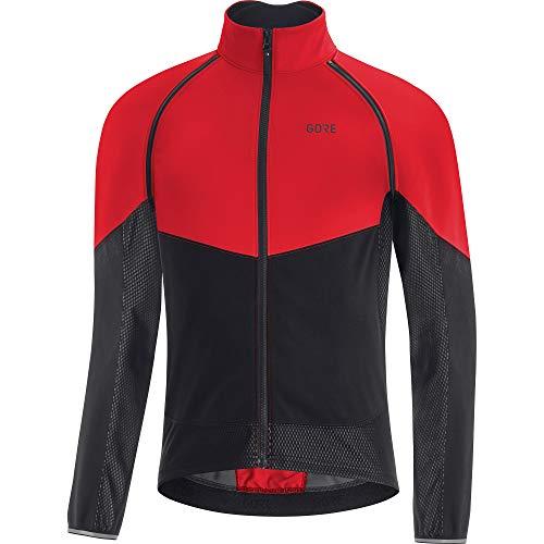 GORE WEAR Herren Fahrrad-Jacke Phantom, GORE-TEX INFINIUM, XL, Rot/Schwarz