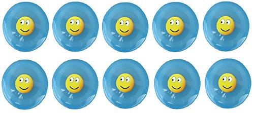 Kinder-Spielzeug B48 Leucht-Frisbee 10er Set, Sommer-Spielzeug Garten Spiel-Platz Strand Frisbee-Scheibe Geschenk-Idee Geburtstag-e