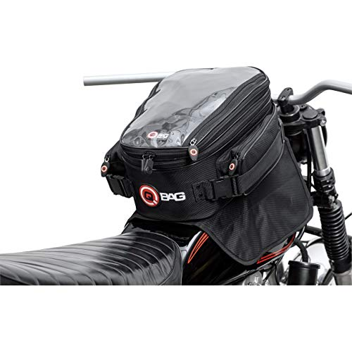 QBag Motorcycle Tank Bag Magnetic Tank Bag Motorcycle Tank Bag ST15 Magnet 11-22 Litre Storage Space Unisex Multipurpose All Year Round Polyester Black