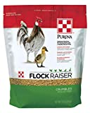 Purina Flock Raiser Crumbles Poultry Feed Nutritionally Complete - 5 Pound (5 lb) Bag