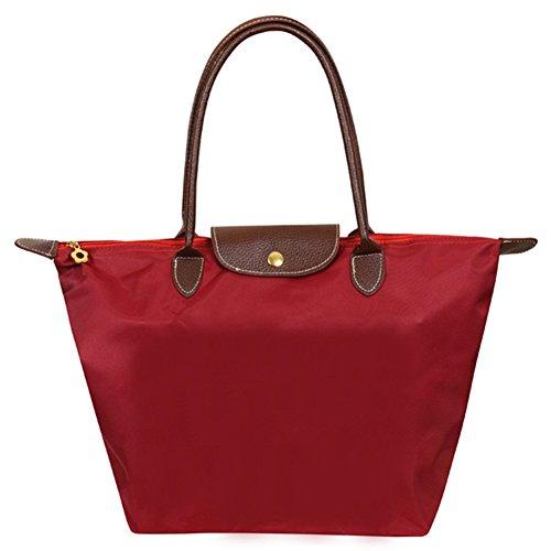 fanhappygo - Bolso al hombro de Lona para mujer Multicolor rojo