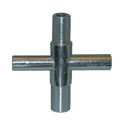 LASCO 01-5223 Metal Outside Faucet Hose Bibb Key, Cross Shaped, Fits Square Broach 1/4, 9/32, 5/16 and 11/32-Inch Sizes