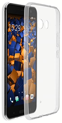 mumbi Hülle kompatibel mit HTC U11 Handy Case Handyhülle Slim dünn, transparent