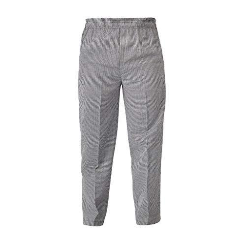 Shiwaki Pantaloni Da Cuoco Pantaloni - Pantaloni Da Lavoro Traspiranti Per Uomo E Donna, 4 Modelli 5 Taglie Tra Cui Scegliere - Plaid, M