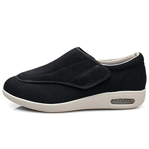 CCSSWW para Edema Y Artritis, Pies Hinchados,Zapatos DiabéTicos para Hombres-Negro_47,Calzado para La Artritis Edema Pies Hinchados