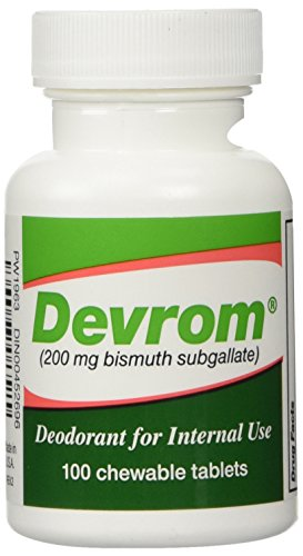 DEVROM Tablets (Internal Deoderant)200MG 100chewable tablets