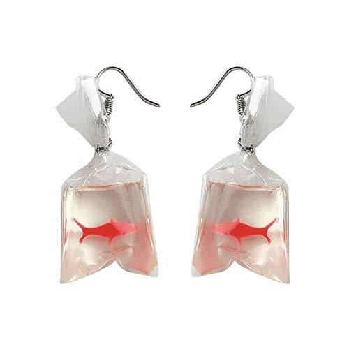 VICKY-HOHO Forma de la bolsa de agua de peces de colores divertidos de