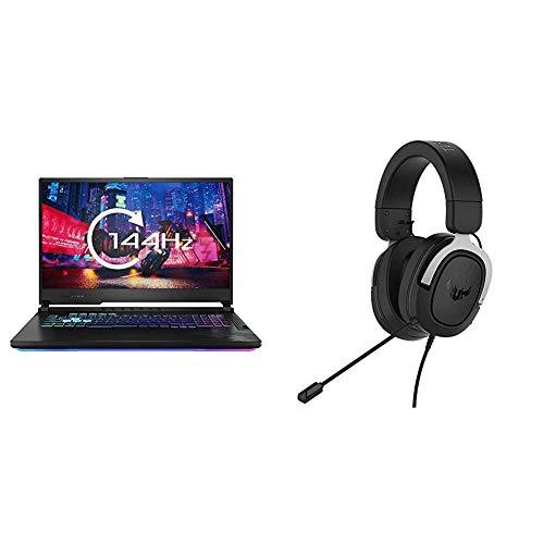 ASUS ROG G712 Full HD 144 Hz 17.3 Inch Gaming Laptop (Intel i7-10750H, Nvidia GeForce RTX 2070 8 GB, 512 GB PCI-e SSD, 16 GB RAM, 4-Zone RGB, Windows 10), Black with Gaming H3 Gaming Headset