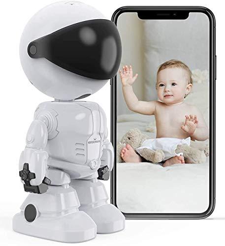 Comprare Web - Baby Monitor Telecamera WiFi Interno Telecamera IP per Bambini/Animali Domestici/Anziani, Videocamera Interna con Visione Notturna e rilevazione di movimento Audio Bidirezionale
