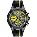 Ferrari Red Rev Chronograph Black and Yellow Dial Men's Watch 830342