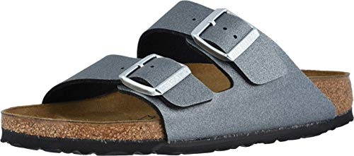 Birkenstock Womens Arizona Birko-Flor Sandals, Icy Anthracite, Size 38 N EU (7-7.5 N US Women)