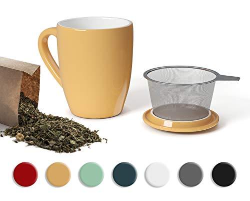 SECRET DE GOURMET Tetera con infusor de cerámica – Taza de té...