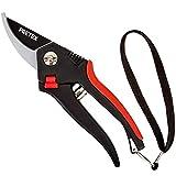 PRETEX tijeras de podar con cierre de seguridad, cuchilla con...