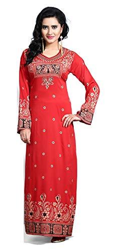 BombayFashions Womens Long Print Kaftan Abaya Long Sleeve Blouse