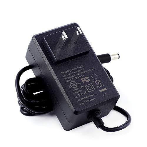[UL Listed] Maxson 15V 2A Power Supply Charger (Input AC 100V-240V, Output DC 15 Volt 2 Amp 30 Watt) Adapter Switching Transformer Converter DC 5.5mm x 2.1mm / 5.5mm x 2.5mm Universal