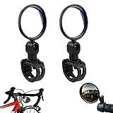 Espejos de Bicicleta Bicicleta Espejo Retrovisor Ajustable Universales Lente de Espejo Retrovisor...