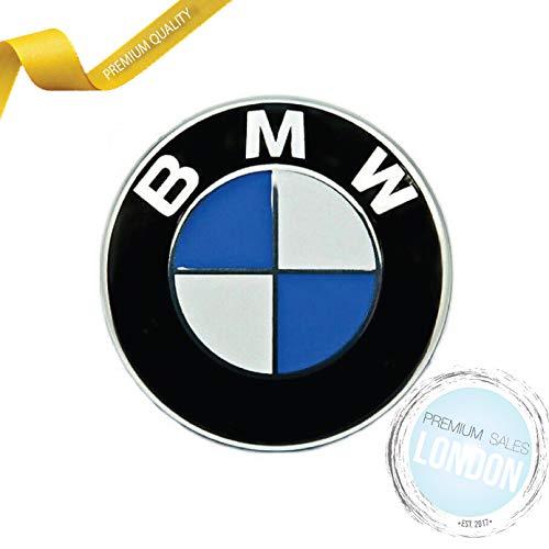PSL 82 mm 2-poliger rundes Emblem, Chrom für Motorhaube/Kofferraum für Auto/BMW