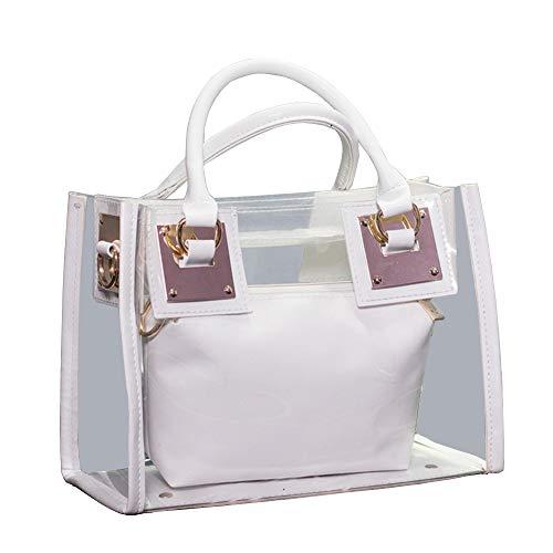 Segater® Klare Umhängetasche Handtaschen, Frauen kleine Tote Tasche Strandtasche Mode Klare Gelee-Handtasche Top Handle Schultertaschen transparente Geldbörse