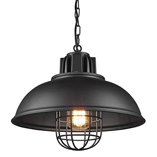 Klassischer schwarzer Retro-Industriemetall-Kronleuchter, verstellbares Kabel, sehr gut geeignet für Esszimmer, Wohnzimmer, Schlafzimmer, Esszimmer, Café und Bar (für E27-Lampen)