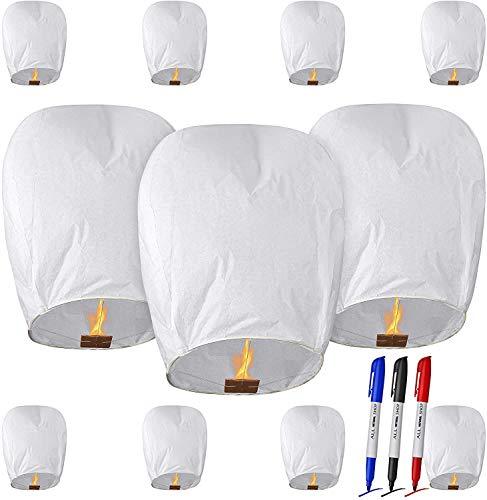CAMTOA Paper Lanterns for Weddings, New Years, Festivals, Memorials & More Japanese Paper Lantern(11 Pack)