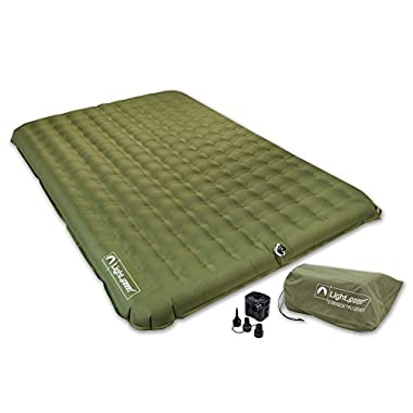 Lightspeed Outdoors 2 Person PVC-Free Air Bed Mattress for Camping and Travel