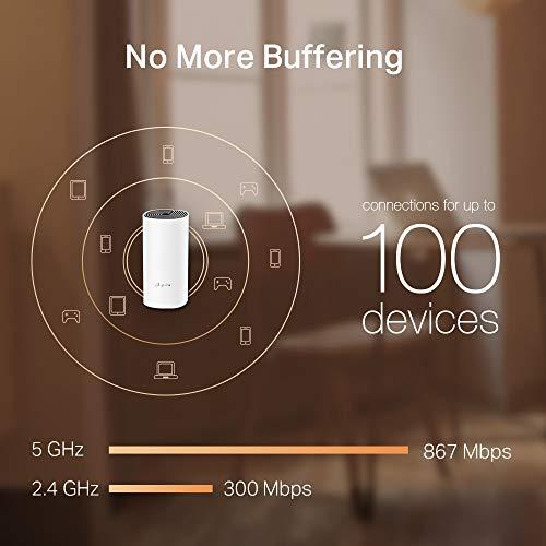TP-Link Deco M4 Wifi Mesh, Dual Band AC1200, 2 Porte Ethernet Gigabit, Modalità router e access point, Parental Control, 2 Pezzi con Copertura Fino a 260m2