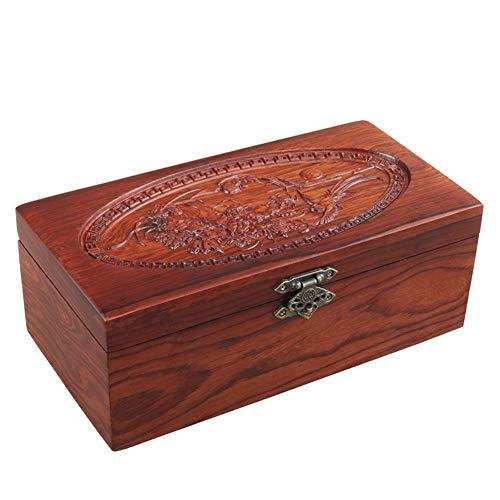 HUIJU Mensch und Haustier-Asche Einäscherung Holz Urnen, handgemachte Memorial Funeral Urn für Hauptdekoration Muster