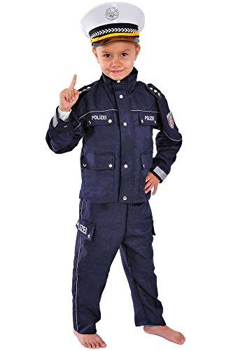 Polizei Kinder Kostüm 98-104 für Fasching Karneval Polizist