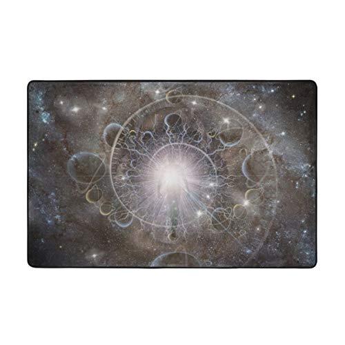 huagu Alfombra de baño,espíritu Eterno,Espiral del Tiempo en el Espacio,Alfombra de baño de Aura o Alma 45cmx75cm