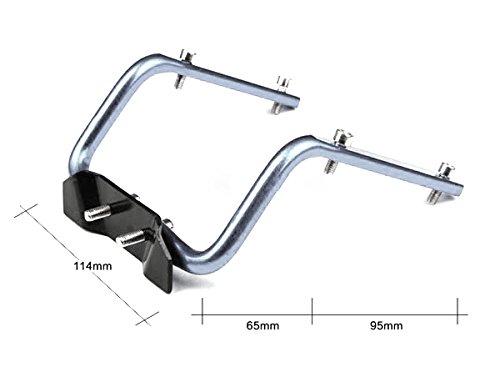System-S Fahrradsattel doppel Trinkflaschen Halterungsvorrichtung, Silberfarben, Standart