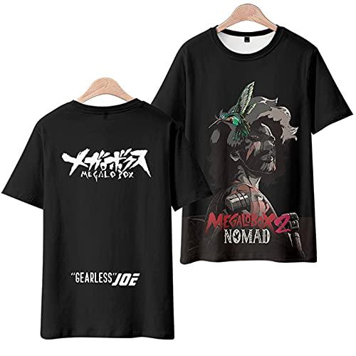 2021 Las camisetas de los nuevos hombres y mujeres son divertidos y cómodos divertidos 3D Megalo Caja de Megalo Cosplay Unisex camiseta de manga corta camiseta camiseta (Color : Black, Size : XL)