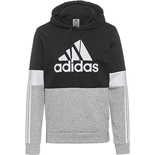 adidas M CB HD Felpa con Cappuccio, Black/White, L Uomo