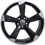 OE Wheels LLC 19 inch Rim Fits Audi S4 Wheel AU29 19x8.5 Satin Mach'd Wheel Hollander 58867