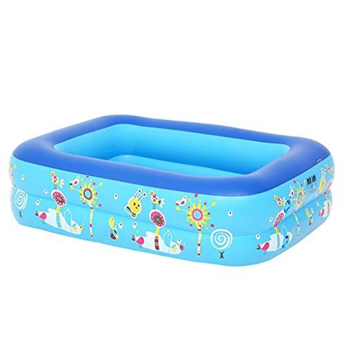 Nobran Aufblasbarer Pool 120X 85X35/130X95X50/150X110X55CM Planschbecken für Kinder, Aufblasbares Schwimmbecken Großer Pool Rechteckig für Erwachsene, Garten, Outdoor (120X 85X35CM, Blau)