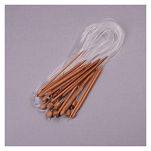 QWXX Crocheter Bamboo Flexible Tapis Crochet Crochets Aiguilles à Random 120cm 90cm, 1 Set (12 pcs/Set) Durable et Facile à Transporter