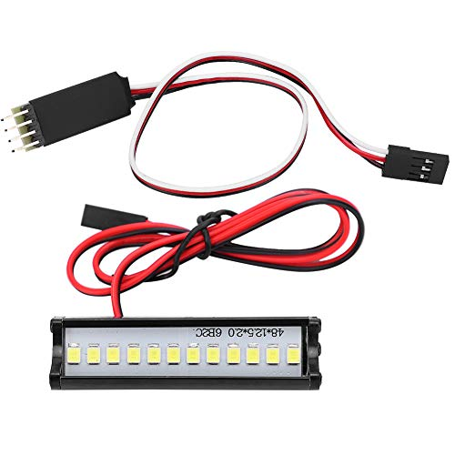 JYLSYMJa Luz de Techo RC, lámpara de Techo de Coche RC Barra de luz LED fiable y Duradera con Interruptor de Control de 3 Canales para orugas RC 1/10