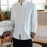 Zoom IMG-2 frauit camicia uomo coreana lino