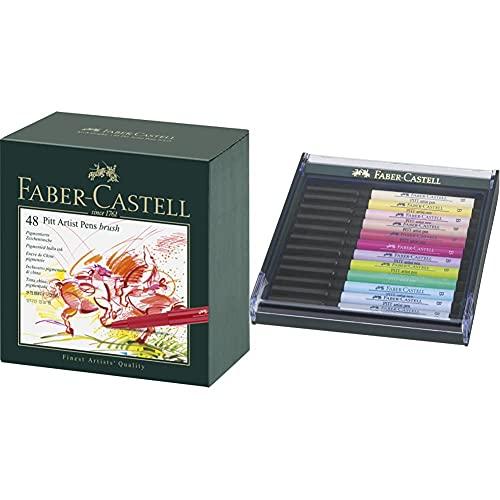 Faber-Castell 167148 Feutre PITT artist pen studio box de 48 & 267420 Box PITT artist pen brush 12x pastel