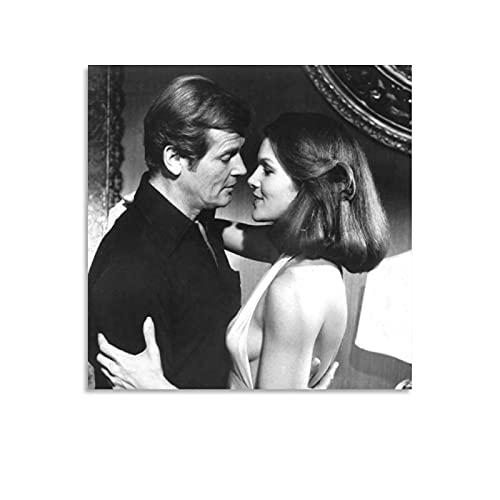 MATONG Lois Chiles Vintage-Filmposter, dekoratives Gemälde, Leinwand, Wandkunst, Wohnzimmer, Poster, Schlafzimmer, Malerei, 30 x 30 cm