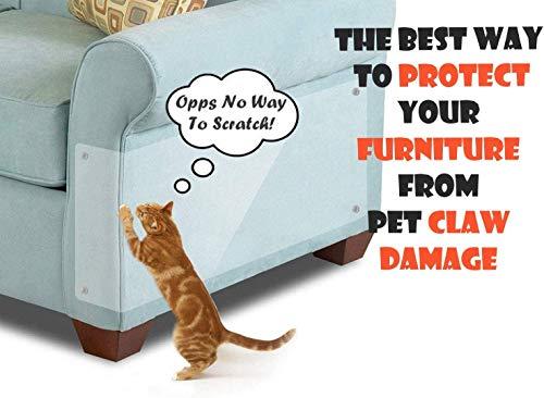 KTL - Protezione per divano per gatti e divani, protezione antigraffio per gatti, con 30 perni, 40,6 cm x 30,5 cm (lunghezza x larghezza), confezione da 6