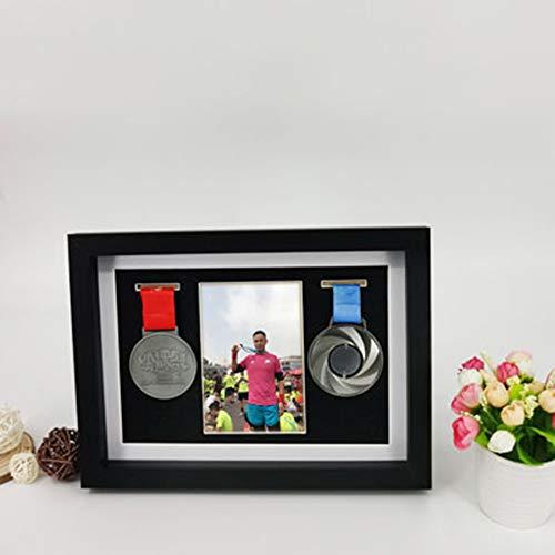 XXCC Marco para exhibir medallas,Medalla de Deportes Cuadro en Marcos de Fotos,Enmarcado de imágenes de Cuadro Profundo en para Mostrar Guerra